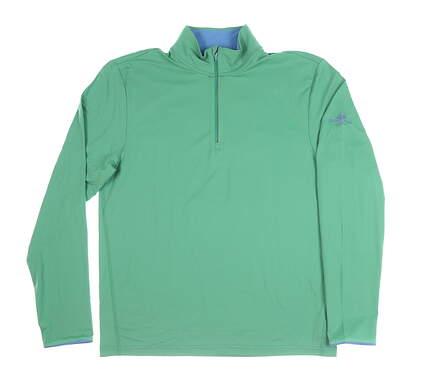 New W/ Logo Mens Ralph Lauren 1/2 Zip Golf Pullover Medium M Green MSRP $106