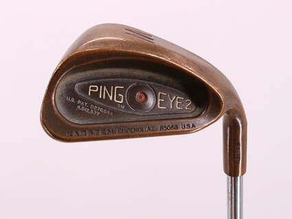 Ping Eye 2 Beryllium Copper Single Iron Pitching Wedge PW Stock Steel Shaft Steel Stiff Right Handed Brown Dot 35.75in