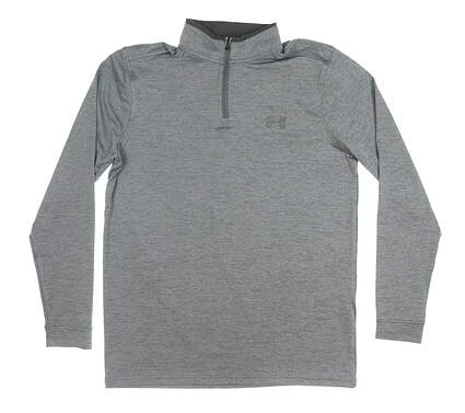 New Mens Under Armour 1/4 Zip Golf Pullover Medium M Gray MSRP $80 UM1281