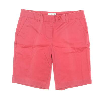 New Womens Vineyard Vines Dayboat Bermuda Shorts 10 Sailors Red MSRP $88 2H0046-631