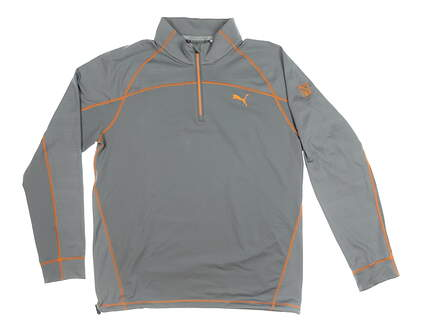 New W/ Logo Mens Puma 1/4 Zip Golf Pullover Small S Gray MSRP $90 573266