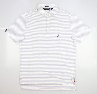 New W/ Logo Mens Ralph Lauren Golf Polo X-Large XL White MSRP $94
