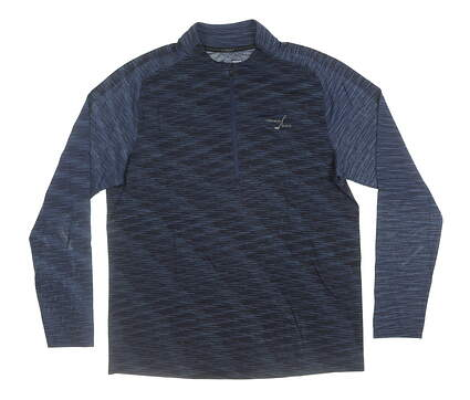 New W/ Logo Mens Under Armour 1/2 Zip Golf Pullover Large L Navy Blue MSRP $85