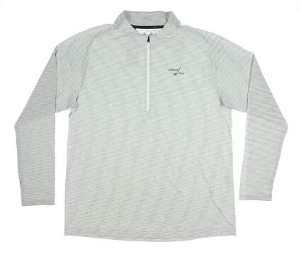New W/ Logo Mens Under Armour 1/2 Zip Golf Pullover X-Large XL Gray MSRP $85