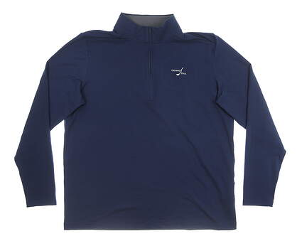 New W/ Logo Mens Under Armour 1/2 Zip Pullover XX-Large XXL Navy Blue MSRP $80