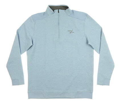 New W/ Logo Mens Under Armour 1/4 Zip Pullover Large L Blue MSRP $100