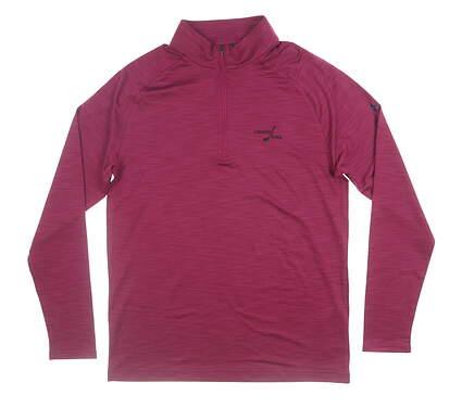New W/ Logo Mens Under Armour 1/4 Zip Pullover Medium M Berry MSRP $75