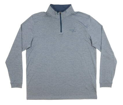 New W/ Logo Mens Under Armour 1/4 Zip Pullover X-Large XL Blue MSRP $85
