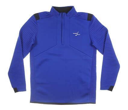 New W/ Logo Mens Under Armour 1/4 Zip Pullover Medium M Blue MSRP $100