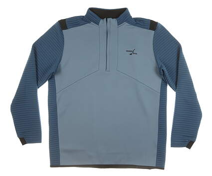 New W/ Logo Mens Under Armour 1/2 Zip Sweater X-Large XL Blue MSRP $100