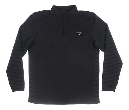 New W/ Logo Mens Under Armour 1/4 Zip Pullover Large L Black MSRP $100
