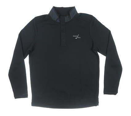 New W/ Logo Mens Under Armour 1/4 Zip Pullover Medium M Black MSRP $80