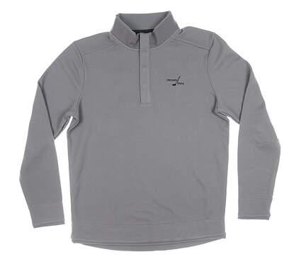 New W/ Logo Mens Under Armour 1/4 Button Pullover Medium M Gray MSRP $80
