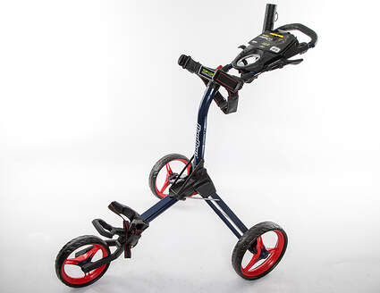 Brand New In Stock! Bag Boy Compact 3 Wheel Push and Pull Cart Navy/Red