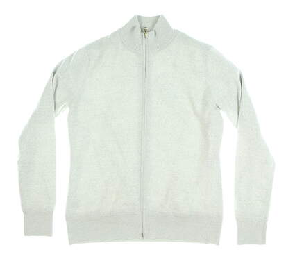 New Womens Fairway & Greene Merino Wind Sweater Large L Gray MSRP $195