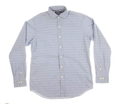 New Mens Ralph Lauren Button Down Medium M Blue MSRP $125