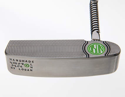 Mint Logan Olson Custom Handcrafted Screw Neck Putter Steel w/ Headcover RH 34in