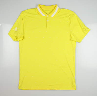 New W/ Logo Mens Nike Polo Small S Yellow MSRP $85 BQ6856