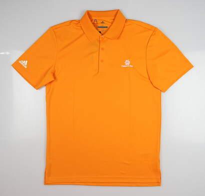 New W/ Logo Mens Adidas Golf Polo Small S Orange MSRP $65 CF9349