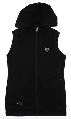 New W/ Logo Womens Adidas Fleece Vest Small S Black MSRP $80 CY7329