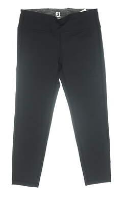 New Womens Footjoy Ankle Leggings Large L Black MSRP $78