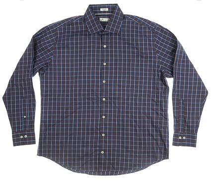 New Mens Peter Millar Button Down X-Large XL Multi MSRP $125