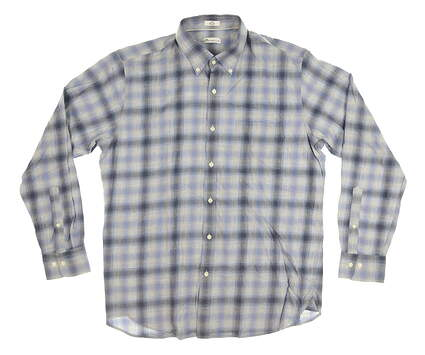 New Mens Peter Millar Button Down Large L Blue MSRP $125