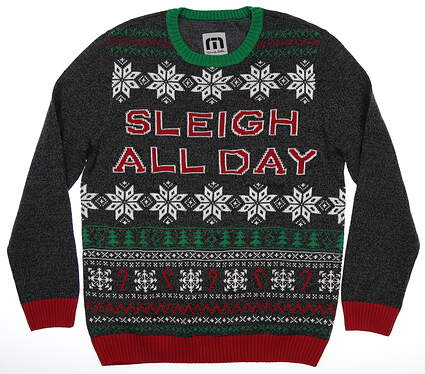 New Mens Travis Mathew Sleigh All Day Sweater Large L Multi MSRP $75