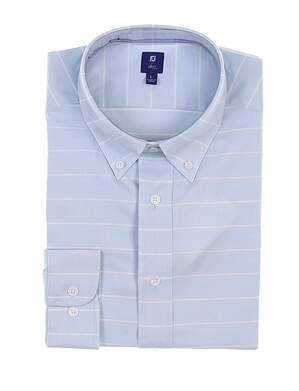 New Mens Footjoy 1857 Button Up Large L Blue MSRP $165 27870