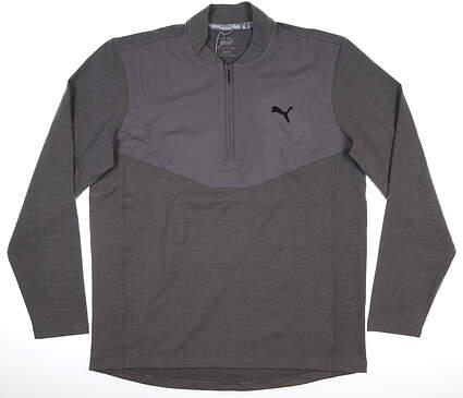 New Mens Puma Cloudspun 1/4 Zip Pullover Medium M Quite Shade MSRP $75 597588 04