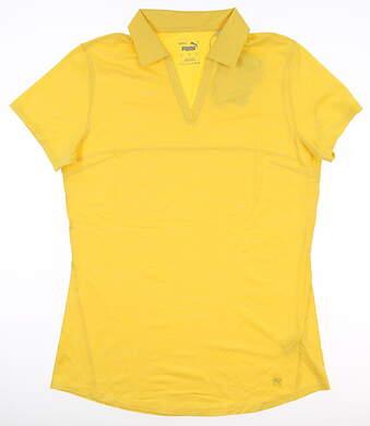New Womens Puma Cloudspun Free Polo Small S Super Lemon MSRP $50 597695 05
