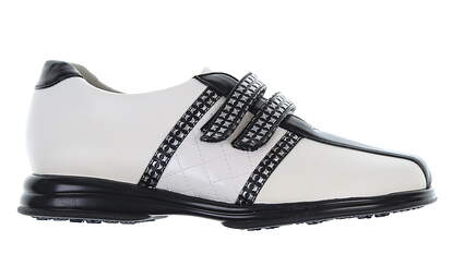 New Womens Golf Shoe Sandbaggers Krystal 6.5 White/Black MSRP $70