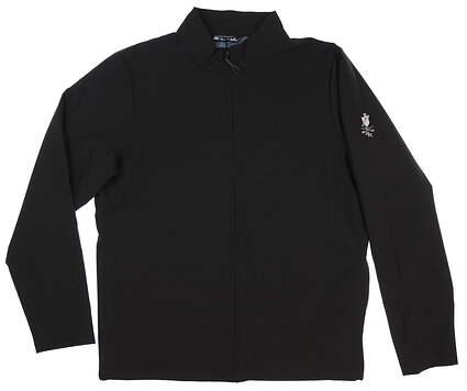 New W/ Logo Mens Travis Mathew Scorpio Jacket Large L Black MSRP $150 1MP129