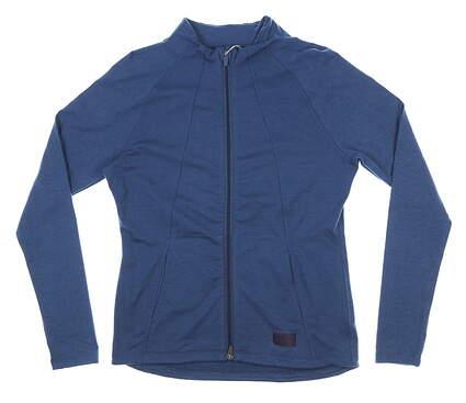 New Womens Puma Warm Up Jacket Small S Navy Blue MSRP $75 595850