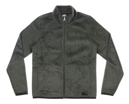 New Womens Puma Sherpa Fleece Jacket Small S Green MSRP $90 597716