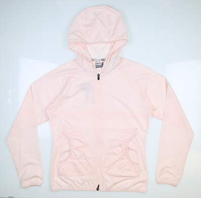 New Womens Puma Zephyr Wind Jacket Small S Pink MSRP $75 577942