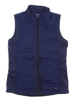 New Womens Puma Primaloft Vest Small S Navy Blue MSRP $75 597710