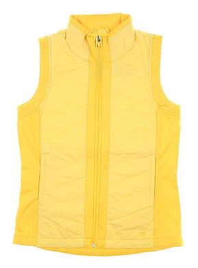 New Womens Puma Primaloft Vest Small S Yellow MSRP $75 597710