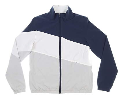 New Womens Puma Track Jacket Small S Navy Blue MSRP $75 599270