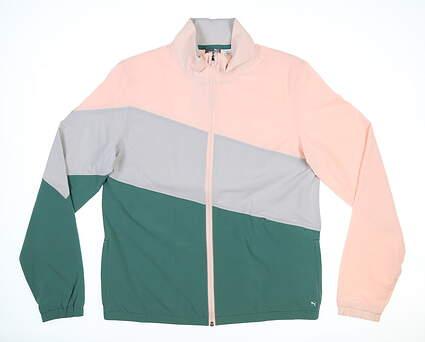 New Womens Puma Track Jacket Small S Pink MSRP $75 599270