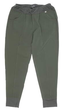 New Womens Puma Jogger Pants Small S Green MSRP $70 597722