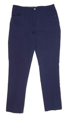 New Mens Puma 5 Pocket Utility Pants 32 x32 Navy Blue MSRP $80 597601
