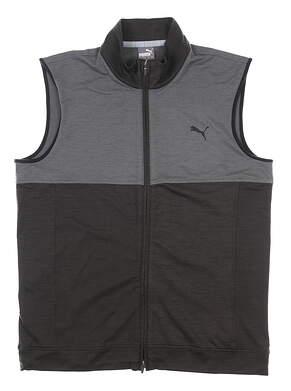 New Mens Puma Warm Up Vest Medium M Puma Black/Quiet Shade MSRP $80 597127