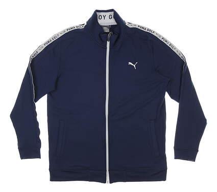 New Mens Puma Enjoy Golf Track Jacket Medium M Navy Blue MSRP $80 599131