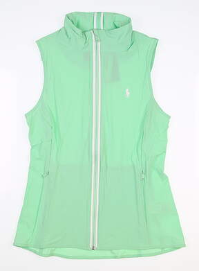 New W/ Logo Womens Ralph Lauren Vest Small S Green MSRP $80