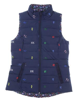 New Womens Ralph Lauren Polo Golf Vest Small S Navy Blue MSRP $198