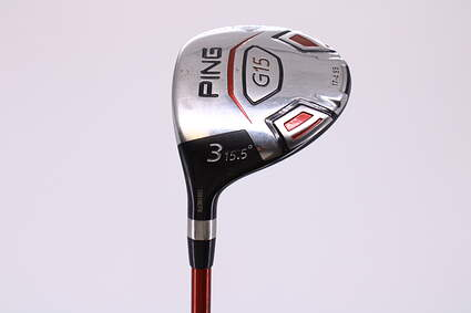 Ping G15 Fairway Wood 3 Wood 3W 15.5° Ping TFC 149F Graphite Regular Left Handed 42.75in