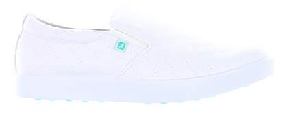 New Womens Golf Shoe Footjoy Prior Generation FJ Sport Retro Medium 8.5 White MSRP $90 92361