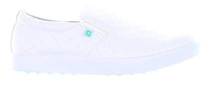New Womens Golf Shoe Footjoy Prior Generation FJ Sport Retro Wide 7.5 White MSRP $90 62361