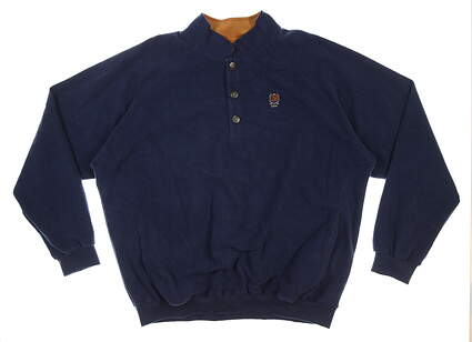 New W/ Logo Mens Straight Down Foothill Fleece Pullover XX-Large XXL Navy MSRP $130 60118
